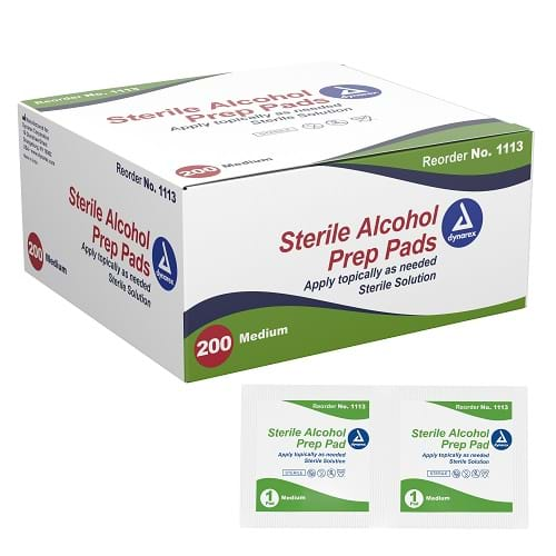 ALCOHOL PADS MEDIUM STERILE 200/BX MPS PREFERRED
