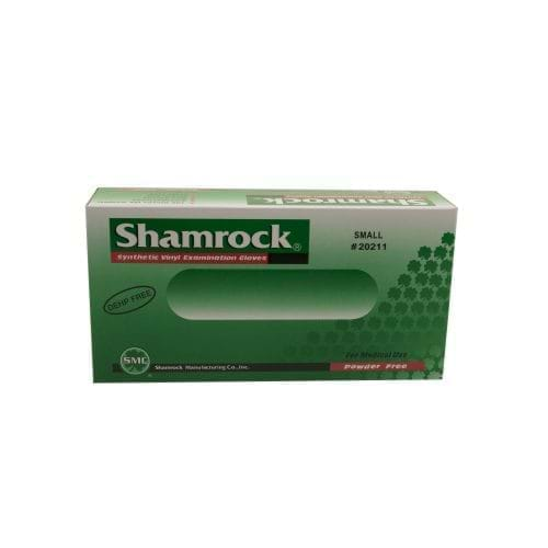GLOVE EXAM NITRILE PF LF SMALL 3ML 100/BX SHAMROCK